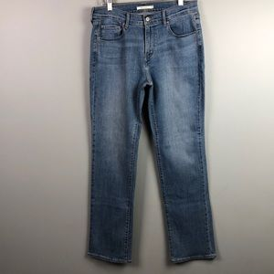 Levi's 505 Straight High Rise Mom Jeans Size 10